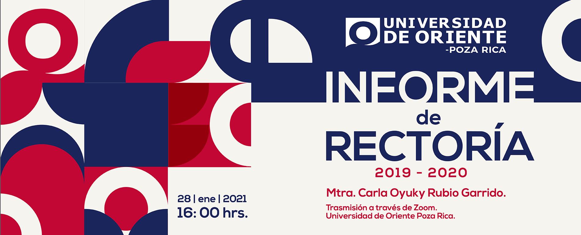 Informe de rectoria 2020 Universidad de Oriente Poza Rica