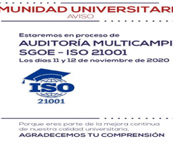 AUDITORIA MULTICAMPI SGOE - ISO 21001