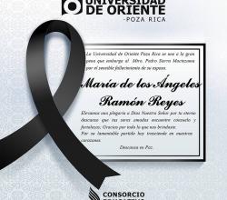 Tarjeta de Condolencias.