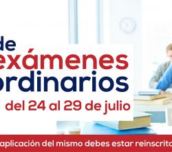 INICIO DE EXÁMENES ORDINARIOS